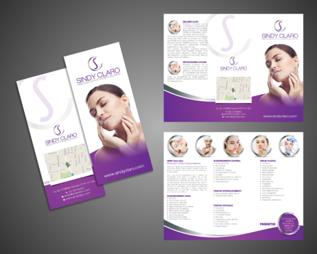 SINDY CLARO MEDICINA ESTETICA ESPECIALIZADA Marketing collateral Winning Design by Kaiza