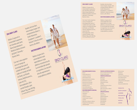 SINDY CLARO MEDICINA ESTETICA ESPECIALIZADA Marketing collateral  Draft # 34 by Deziner85