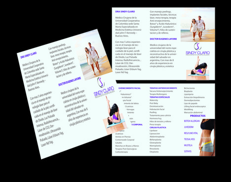 SINDY CLARO MEDICINA ESTETICA ESPECIALIZADA Marketing collateral  Draft # 35 by Deziner85
