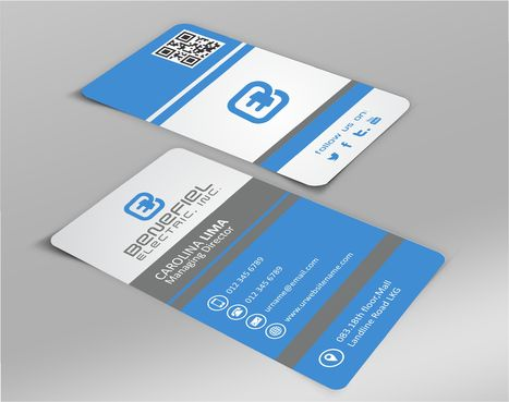 Electrical Contractor Business Cards and Stationery  Draft # 267 by DesignBlast