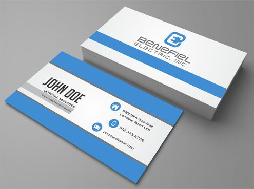 Electrical Contractor Business Cards and Stationery  Draft # 271 by DesignBlast