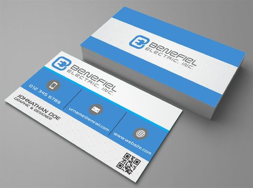 Electrical Contractor Business Cards and Stationery  Draft # 273 by DesignBlast