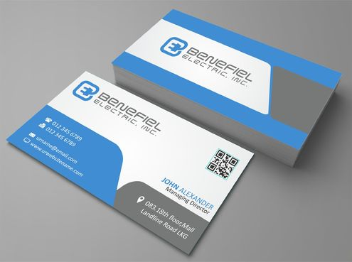 Electrical Contractor Business Cards and Stationery  Draft # 275 by DesignBlast