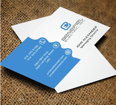 Electrical Contractor Business Cards and Stationery  Draft # 278 by DesignBlast