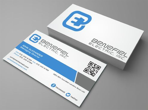 Electrical Contractor Business Cards and Stationery  Draft # 279 by DesignBlast