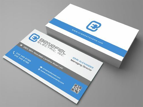 Electrical Contractor Business Cards and Stationery  Draft # 285 by DesignBlast