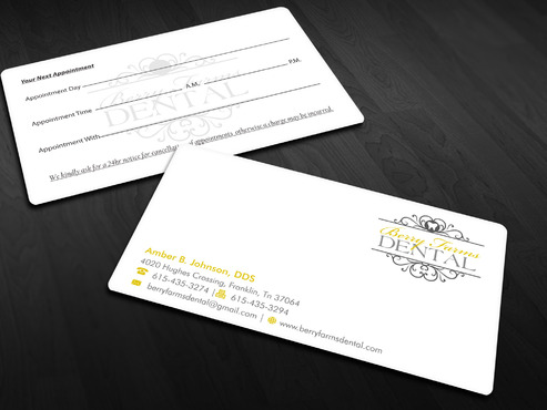 Berry Farms Dental Business Cards and Stationery  Draft # 292 by Xpert