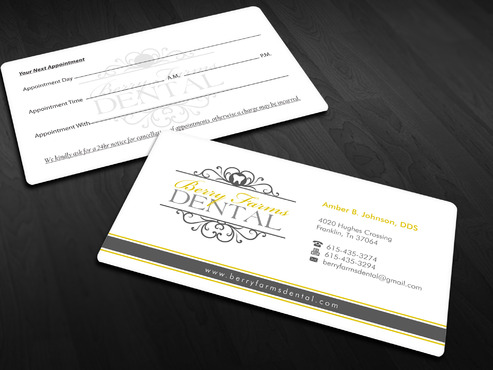 Berry Farms Dental Business Cards and Stationery  Draft # 296 by Xpert
