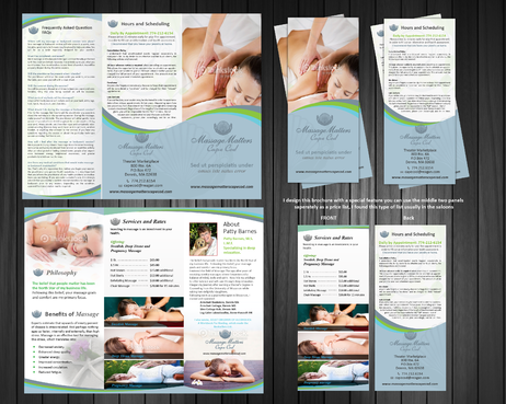 Massage Therapy Marketing collateral Winning Design by Achiver