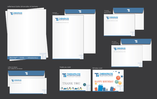 Letterhead, business envelopes, thank you cards, birthday cards for employees
