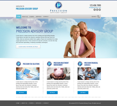 Precision Advisory Group Complete Web Design Solution  Draft # 71 by timefortheweb