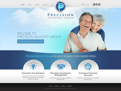Precision Advisory Group Complete Web Design Solution  Draft # 72 by timefortheweb