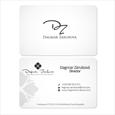 Dagmar Zarubova - Real Estate Interior Design Business Cards and Stationery  Draft # 163 by kingmaster