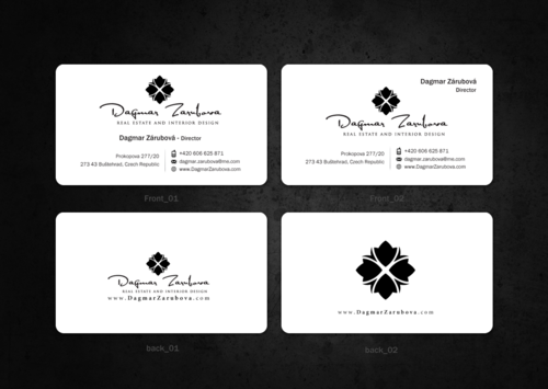 Dagmar Zarubova - Real Estate Interior Design Business Cards and Stationery  Draft # 165 by einsanimation