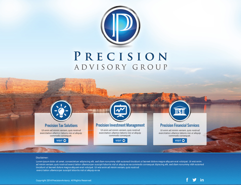 Precision Advisory Group Complete Web Design Solution Winning Design by itmech