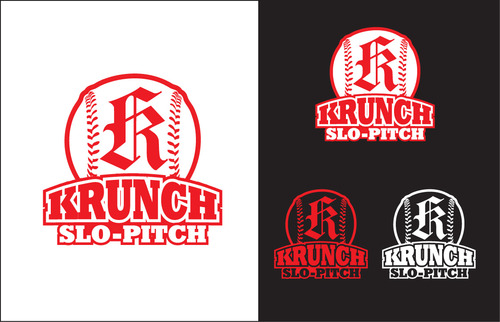 Krunch Slo-pitch Logo Winning Design by capt6blok