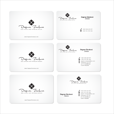 Dagmar Zarubova - Real Estate Interior Design Business Cards and Stationery  Draft # 219 by kingmaster