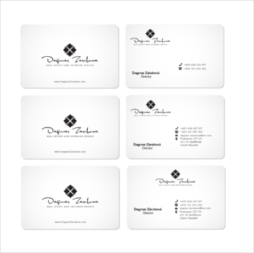Dagmar Zarubova - Real Estate Interior Design Business Cards and Stationery  Draft # 220 by kingmaster