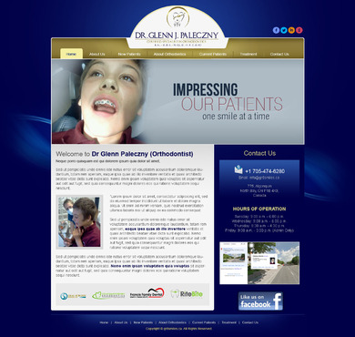 Dr Glenn Paleczny  (Orthodontist) Complete Web Design Solution  Draft # 20 by timefortheweb