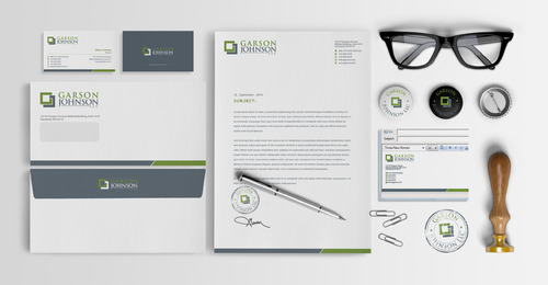 Garson Johnson LLC Business Cards and Stationery  Draft # 93 by jameelbukhari