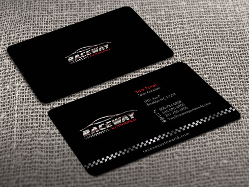 Raceway Autoworld  Business Cards and Stationery  Draft # 39 by Xpert