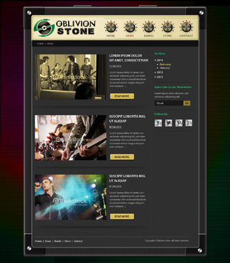 Oblivion Stone Complete Web Design Solution  Draft # 9 by pivotal