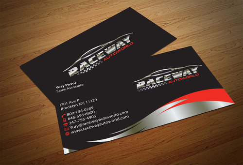 Raceway Autoworld  Business Cards and Stationery  Draft # 77 by fjsiddiqi