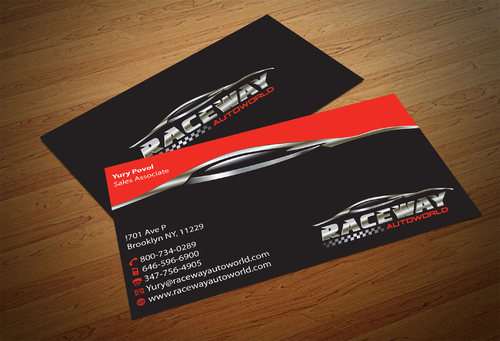 Raceway Autoworld  Business Cards and Stationery  Draft # 78 by fjsiddiqi