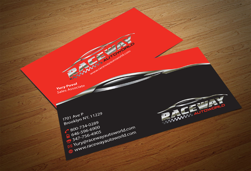 Raceway Autoworld  Business Cards and Stationery  Draft # 79 by fjsiddiqi
