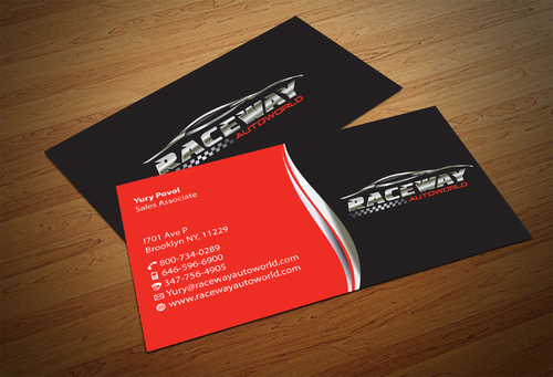 Raceway Autoworld  Business Cards and Stationery  Draft # 80 by fjsiddiqi