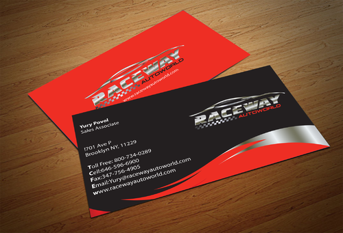 Raceway Autoworld  Business Cards and Stationery  Draft # 81 by fjsiddiqi