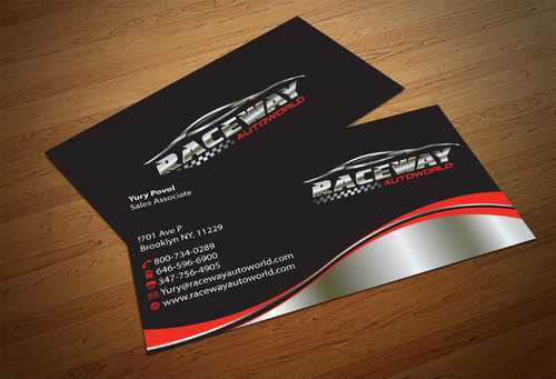 Raceway Autoworld  Business Cards and Stationery  Draft # 83 by fjsiddiqi