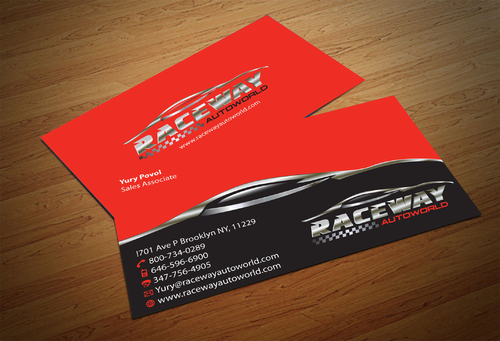 Raceway Autoworld  Business Cards and Stationery  Draft # 84 by fjsiddiqi