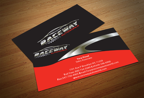 Raceway Autoworld  Business Cards and Stationery  Draft # 85 by fjsiddiqi