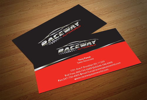 Raceway Autoworld  Business Cards and Stationery  Draft # 86 by fjsiddiqi
