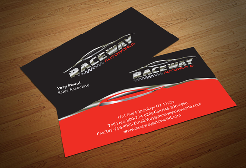 Raceway Autoworld  Business Cards and Stationery  Draft # 91 by fjsiddiqi