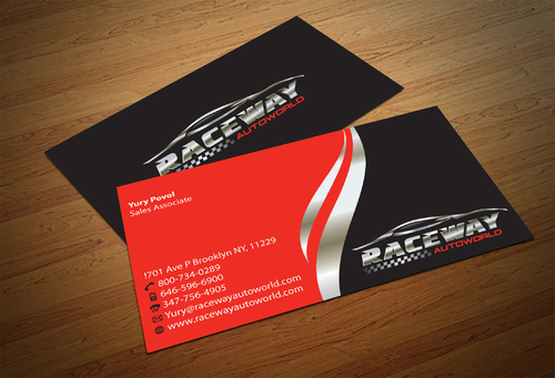 Raceway Autoworld  Business Cards and Stationery  Draft # 92 by fjsiddiqi