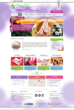 Website Design for Corporate Nails & Spa