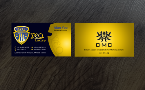 YEO LUXURY Business Cards and Stationery Winning Design by einsanimation