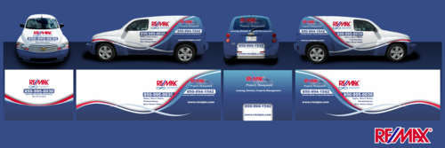 RE/MAX Infinity Company Car Marketing collateral Winning Design by Erza8