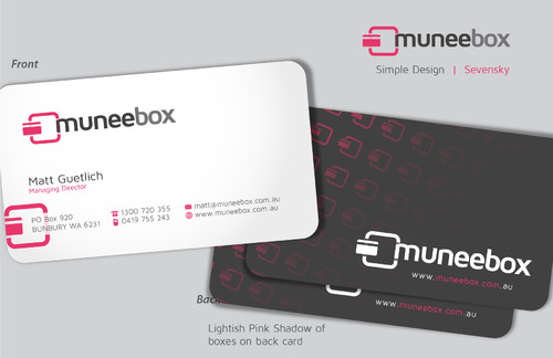 Fun modern design for new quirky company Business Cards and Stationery  Draft # 89 by sevensky