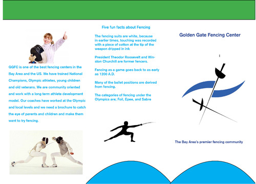 Golden Gate Fencing Center Marketing collateral  Draft # 3 by stefanking