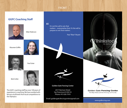 Golden Gate Fencing Center Marketing collateral  Draft # 4 by gugunte