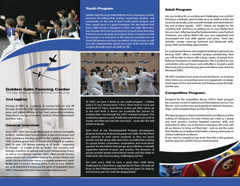 Golden Gate Fencing Center Marketing collateral  Draft # 7 by gugunte