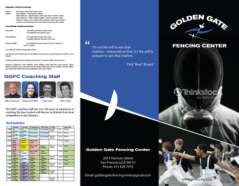 Golden Gate Fencing Center Marketing collateral  Draft # 8 by gugunte
