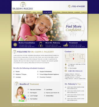 Dr Glenn Paleczny  (Orthodontist) Complete Web Design Solution Winning Design by makeglow
