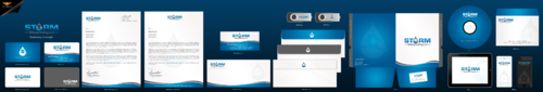 Storm waterproofing LLC Business Cards and Stationery  Draft # 69 by einsanimation