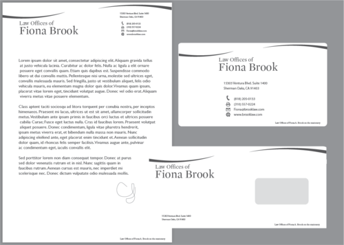 letterhead, envelope, business cards