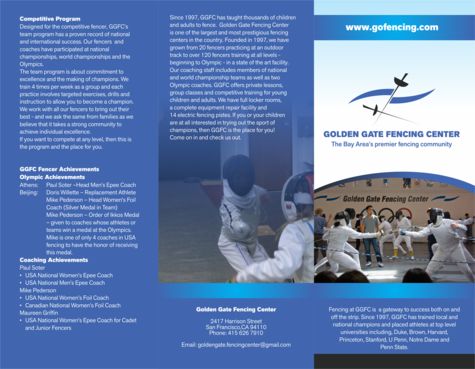 Golden Gate Fencing Center Marketing collateral  Draft # 13 by barinix