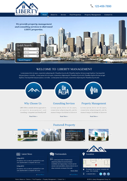 Liberty Management Group, Inc. Complete Web Design Solution  Draft # 6 by makeglow